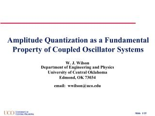 Amplitude Quantization as a Fundamental Property of Coupled Oscillator Systems