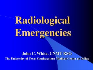 Radiological Emergencies