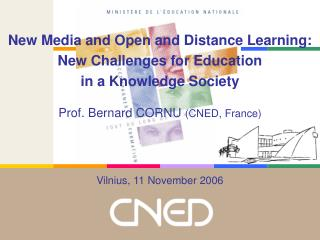 New Media and Open and Distance Learning: New Challenges for Education in a Knowledge Society