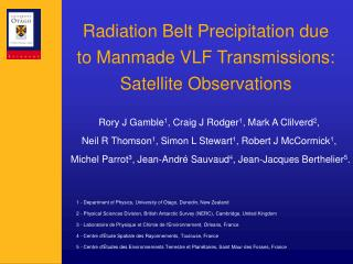 Radiation Belt Precipitation due to Manmade VLF Transmissions: Satellite Observations