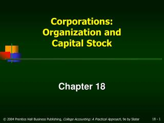 Corporations: Organization and Capital Stock