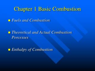 Chapter 1 Basic Combustion