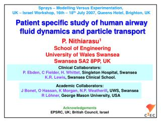 Patient specific study of human airway  fluid dynamics and particle transport