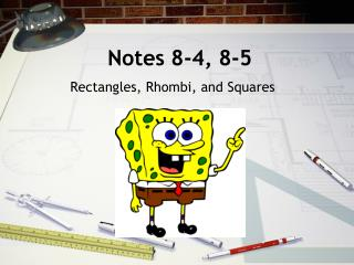 Notes 8-4, 8-5