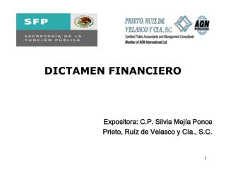 DICTAMEN FINANCIERO