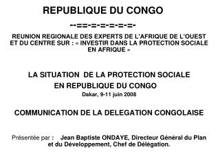 REPUBLIQUE DU CONGO --==-=-=-=-=-=-
