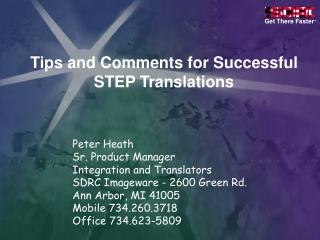 Tips and Comments for Successful STEP Translations