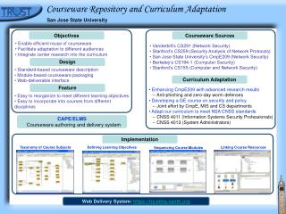Courseware Repository and Curriculum Adaptation