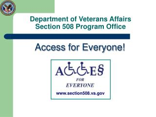 Department of Veterans Affairs Section 508 Program Office