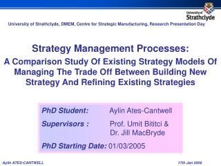 Strategy Management Processes: