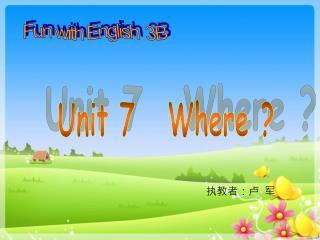 Fun with English 3B