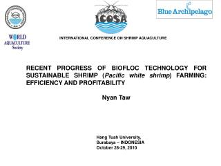 INTERNATIONAL CONFERENCE ON SHRIMP AQUACULTURE