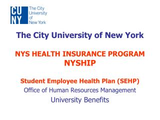 Office of Human Resources Management University Benefits