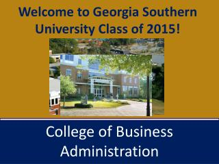 Welcome to Georgia Southern University Class of 2015!