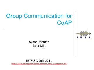 Group Communication for CoAP