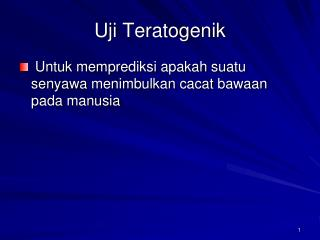 Uji Teratogenik