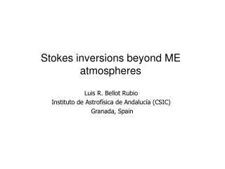 Inversions based on ME atmospheres