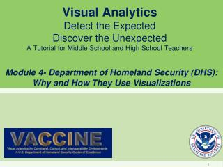 Module 4- Department of Homeland Security (DHS): Why and How They Use Visualizations