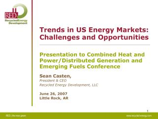 Trends in US Energy Markets: Challenges and Opportunities