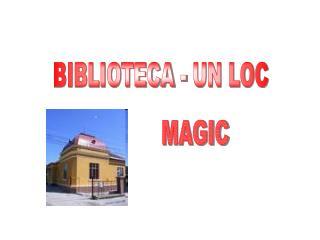BIBLIOTECA - UN LOC