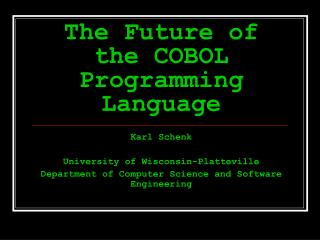 The Future of the COBOL Programming Language