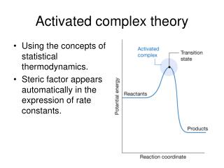 Activated complex theory