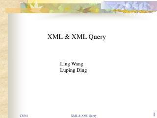 XML & XML Query