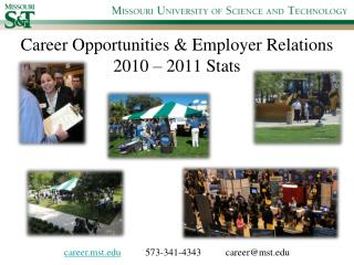 Career Opportunities & Employer Relations 2010 – 2011 Stats