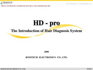 The Introduction of Hair Diagnosis System