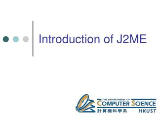 Introduction of J2ME