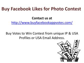 Buy Facebook Likes for Photo Contest