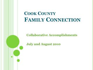 Cook County  Family Connection