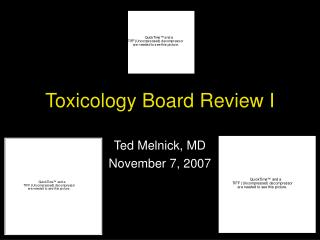 Toxicology Board Review I