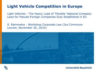 Light Vehicle Competition in Europe