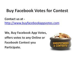 Buy Facebook Votes for Contest
