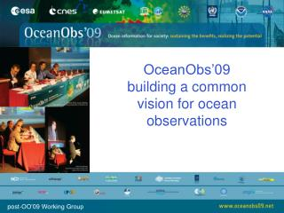 OceanObs'09 building a common vision for ocean observations