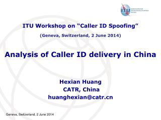 Analysis of Caller ID delivery in China