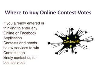 Where to buy Online Contest Votes