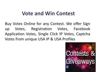 Vote and Win Contest