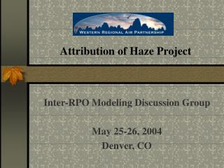 Attribution of Haze Project