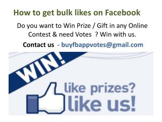 How to get bulk likes on Facebook