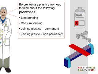 Before we use plastics we need to think about the following  processes :   Line bending