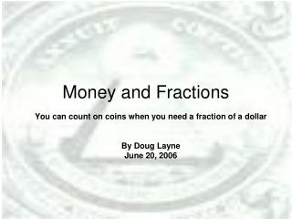 Money and Fractions