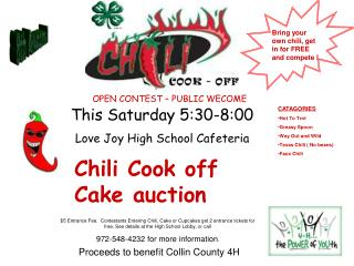 Chili Cook Off Cake Auction