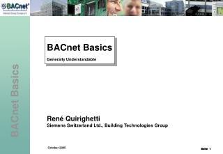 BACnet Basics Generally Understandable