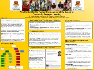 Web  Content for the Further Development of the Centre for Community Engaged  Learning