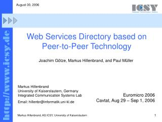 Web Services Directory based on Peer-to-Peer Technology