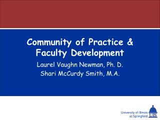 Community of Practice & Faculty Development