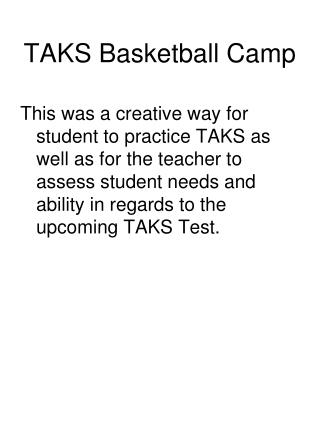 TAKS Basketball Camp