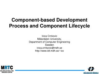 Component-based Development Process and Component Lifecycle